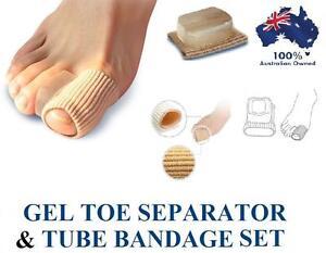 Gel Bunion Corrector Toe Protector Straightener Spreader Tube Bandage Pain