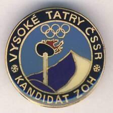 1984 VYSOKE TATRY Olympic Games BID PIN Badge CANDIDATE Winter Olympics RARE