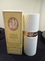 RARE Nina Ricci L'Air Du Temps 2oz White Bottle Eau De Toilette Spray Bottle