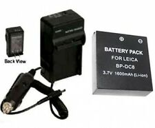 BP-DC8 BP-DC8E Battery + Charger for Leica X1 Digital Camera BPDC8 BPDC8E