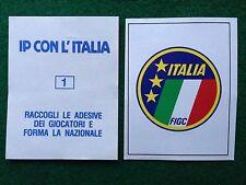 IP CON L'ITALIA n 1 SCUDETTO NAZIONALE Figurina Sticker Calciatori NEW