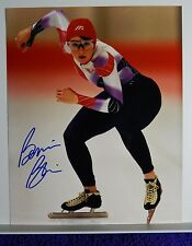 AUTOGRAPHED COLOR PHOTO>OLYMPIC SPEED SKATER>OLYMPIC METAL WINNER >BONNIE BLAIR