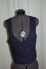 NWT Anthropologie Odille Navy Blue Vest Size 6 Made in USA