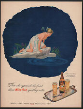 1945 WHITE ROCK Sparkling Mineral Water - The White Rock Girl - Angel VINTAGE AD