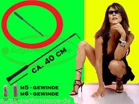 Stab Dach Antenne 40cm Triplex 16V Auto Radio FM AM M5 M6 KFZ f. VW Audi BMW