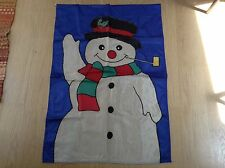 "New listing Vintage Frosty The Snowman Winter Decorative Nylon Garden Flag 28"" X 40"""