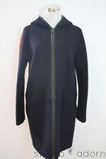 NEW J.CREW STADIUM CLOTH HOODED ZIP COAT COLORBLOCK A8910 6 WINTER NAVY