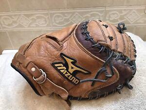 """Mizuno GXC-91 Pro Scoop 33.5"""" Baseball Softball Catchers Mitt Right Hand Throw"""