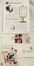 100th anniversary Norman Rockwell stamp folio + commemorative sheet +1st day Can