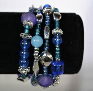Multi Strand Magnetic Clasp Bead Bracelet Women Girls Teen Jewelry Accessories