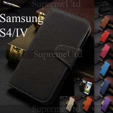Canvas Style Samsung Galaxy S4 IV Wallet Credit Card Holder Thin Case Cover