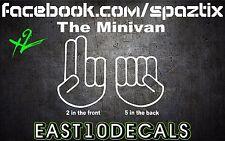 The Minivan funny Decal Bumper Sticker JDM diesel shocker set of 2