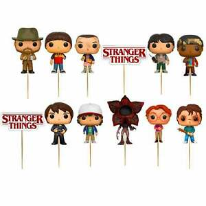 Set of 12 STRANGER THINGS Birthday Cup Cake Party Toppers / Decorations