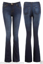Denim Machine Washable Low Rise Flare Jeans for Women