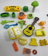 Vtg To Now Barbie Doll 20 Pc Accessories Electronics Telephones Yellow Household