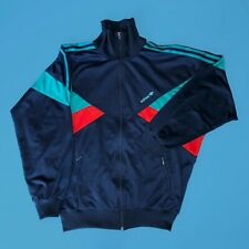 Vintage 90s Adidas Jacket - Blue/Cyan/Red - Size M