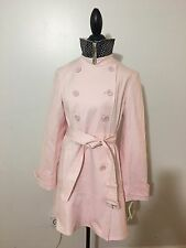 NWT Women's KATE SPADE New York Double Breasted Trench Coat, Large, Pastry Pink
