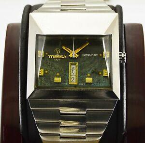 Vintage Tressa Lux Spaceman Audacieuse Automatic Mens Wrist Watch 1970