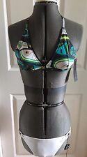 NEW French Connection Paradise Punch Halter Neck Bikini Set S (UK 10)