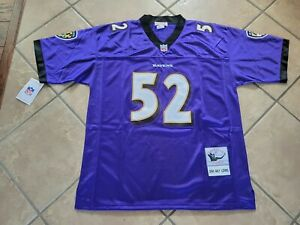 #52 Ray Lewis Baltimore Ravens Throwback Jersey Size Extra Large NWT