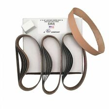 "1""x18"" High Grit Belt Pack & Leather Strop Fits Work Sharp Ken Onion Attachment"