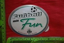 Alter Aufkleber Genuss Getränke Fußball mit Fun JEVER Alkoholfreies Fun Pilsener