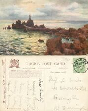 s11066 Tuck Oilette, La Corbiere Lighthouse, Jersey postcard posted 1907 stamp