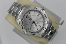 Tag Heuer WAF1112.BA0801 Silver Gray Aquaracer Watch Mens 300M Stainless Steel