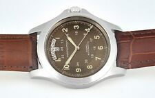 HAMILTON Khaki Field Swiss Day Date All Stainless Steel Mens Wrist Watch In Box