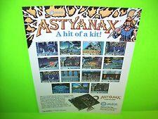 Jaleco ASTYANAX 1989 Original NOS Retro Video Arcade Game Promo Sales Flyer