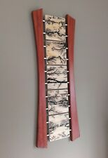 High Voltage Modern Lichtenberg Wall Art, Pine, Bubinga, and Stainless Steel