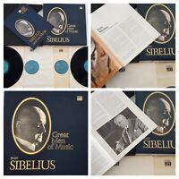 Time Life GREAT MEN OF MUSIC Jean Sibelius 4 LPs Record 33 rpm Vinyl