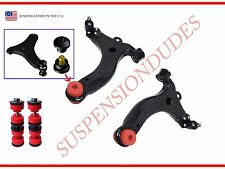 4PC FRONT LOWER R/L CONTROL ARMS WITH NON TEAR BUSHINGS AND FRONT SWAY BAR LINKS