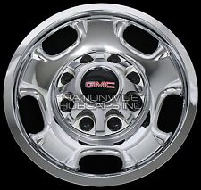 "4 New GMC Sierra 2500 3500 HD 17"" 8 Lug CHROME Wheel Skins Rim Covers Hub Caps"
