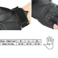 Tactical Military Motorcycle Bicycle Airsoft Half Finger Gloves Leather, PVC