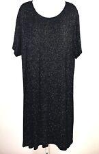 Zanoni Women Size 26/28 4X Plus Dress Black Gold Sparkle Stretch Evening Formal