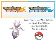 Pokemon Sun and Moon, Ultra Sun and Moon, ORAS Event Pokemon Hope Diancie
