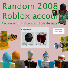 Random 2008 Roblox Accounts (Some with limiteds and of sale hats)(can be empty)