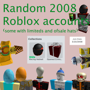 Random 2008 Roblox Accounts (!Last Stock!)(can have items)(can be empty)*Random*