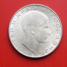 Jugoslawien: 50 Dinara 1938 Silber Coin, KM# 24, VZ-XF, F# 2601. Peter II.