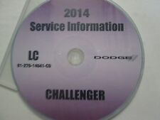 2014 DODGE CHALLENGER Service INFORMATION Repair Manual CD DVD OEM BRAND NEW