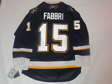 ROBBY FABBRI SIGNED REEBOK PREMIER ST. LOUIS BLUES ALTERNATE JERSEY JSA COA