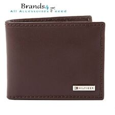 Tommy Hilfiger Men's Leather Coin Card Wallet Bifold Brown 31TL130049