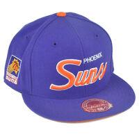NBA Mitchell Ness G023 Phoenix Suns Fitted Flat Bill Script Hat Cap
