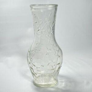 Vintage Good Seasons Salad Dressing Cruet Glass Bottle Leaf Design No Lid