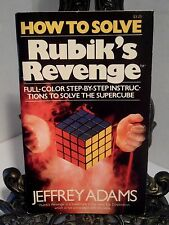 1982 VG How to Solve Rubik's Revenge Jeffrey Adams 1st Printing Ideal Super Cube