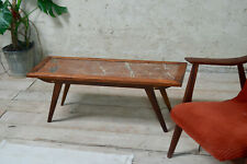 Mid Century French Red Marble Coffee Table Vintage