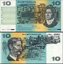Australian Scarce 3xConsecutive $10 Fraser&Cole PIL Letter Banknotes Issue r313a