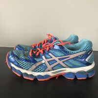 ASICS womens Size 9.5 Gel Cumulus 15 Running Shoes Teal model T3C5N excellent