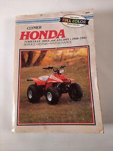 CLYMER HONDA FOURTRAX 200SX/ATC200X 1986-1988 SERVICE MANUAL